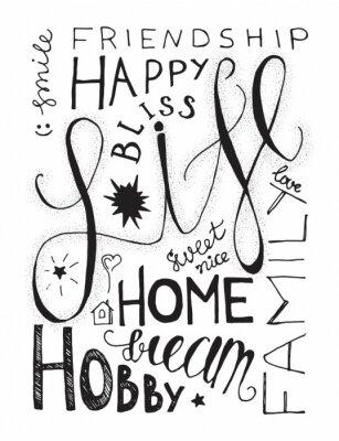 Poster Rotulação feliz da vida