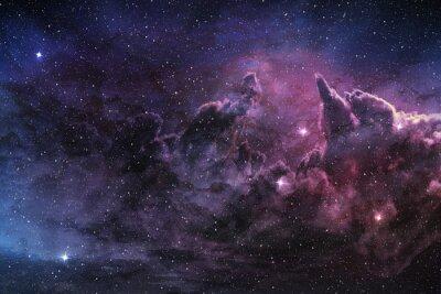 Poster Roxo, nebulosa, cósmico, poeira, estrela, campo