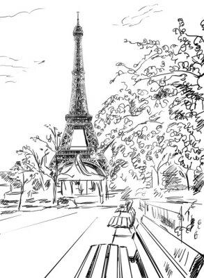 Poster Rua em Paris.