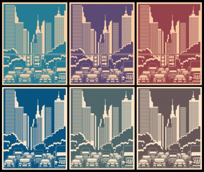 Poster Ruas da cidade