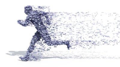 Poster Running Man a partir de blocos