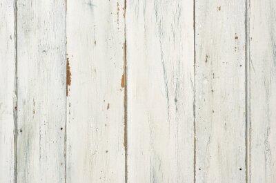 Poster Rustikaler weißer Holzhintergrund
