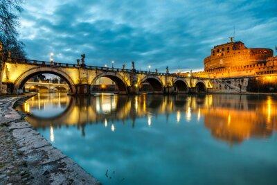 Poster S.Angelo, ponte, castelo, Roma, Itália