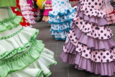 Poster saias das dançarinas de flamenco espanhol