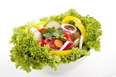 Poster salada fresco com legumes mistos
