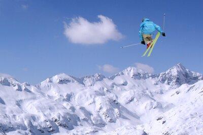 Poster Saltando esquiador