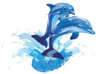 Poster Saltando golfinhos
