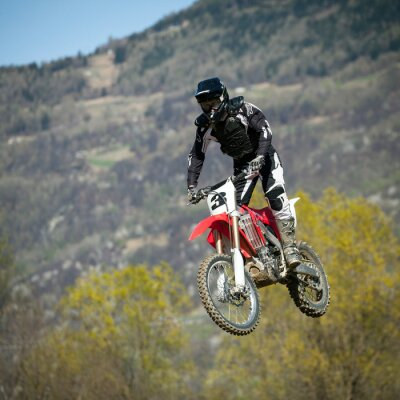 Poster salto con moto