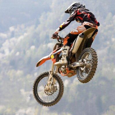 Poster salto con moto da cruz