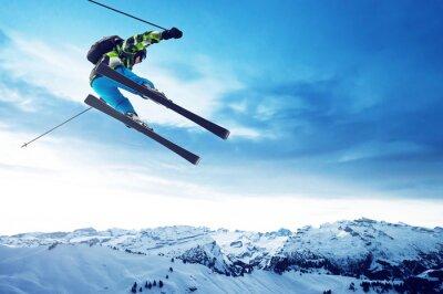 Poster Saltos esquiador