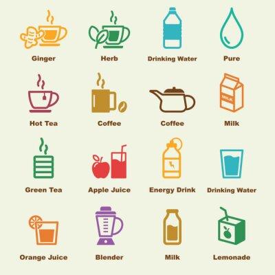 Poster Saudável, bebida, elementos