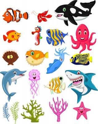 Poster Sea coleção dos desenhos animados Vida