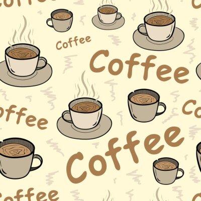 Poster Seamless, café, vapor