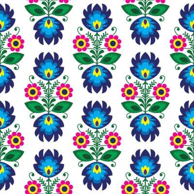 Poster Seamless floral polonês tradicional - origem étnica