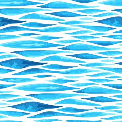 Poster Seamless, horizontais, mar, fundo