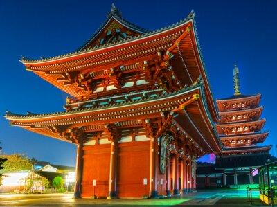 Poster Senso-ji, Templo de Asakusa, Tóquio, Japão.