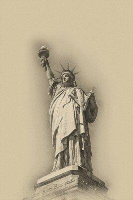 Poster Sépia, tonificado, artístico, imagem, estátua, liberdade