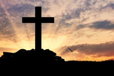Poster Silhueta de uma cruz
