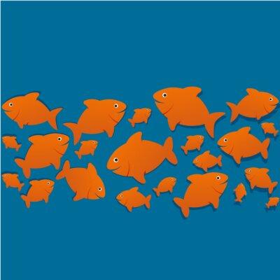 Poster Silhuetas poissons