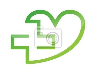 d84476f21b296 Símbolo do ícone do logotipo cuidado medicina saúde cruz cartazes ...