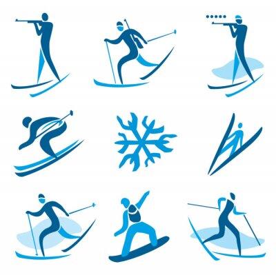 Poster Símbolos do esporte de inverno