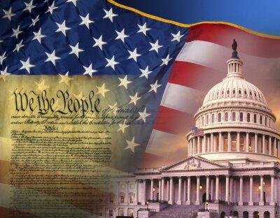 Poster Símbolos patrióticos - Estados Unidos da América