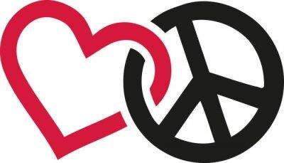 Poster Sinais de amor e paz entrelaçados