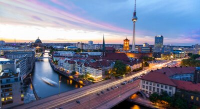 Poster Skyline Berlin, Blick auf den Alexanderplatz