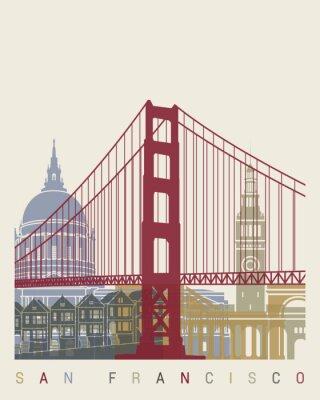 Poster Skyline de San Francisco Poster