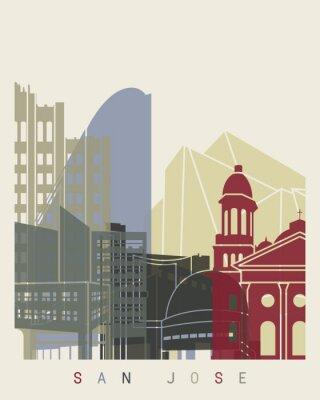 Poster Skyline de San Jose Impressão