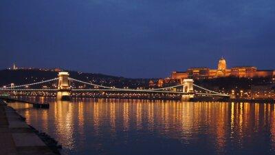 Poster Skyline ponte de cadeia de Budapeste