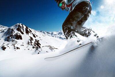 Poster Snowboarder indo para baixo