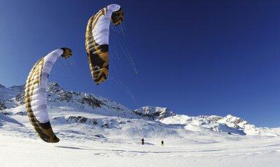 Poster snowkiten im inverno