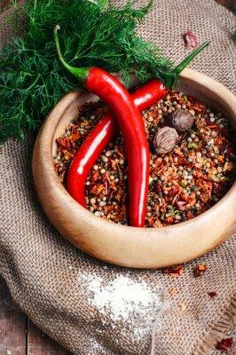 Poster Spicy tempero de pimenta