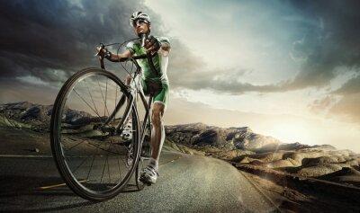 Poster Sport. Ciclista da estrada