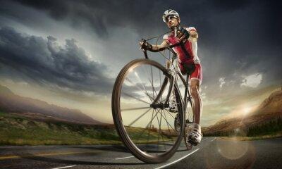 Poster Sports. Ciclista da estrada.