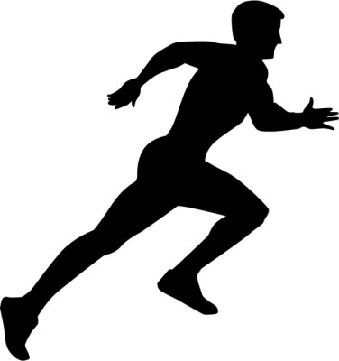 Poster Sprint Correr Silhouette