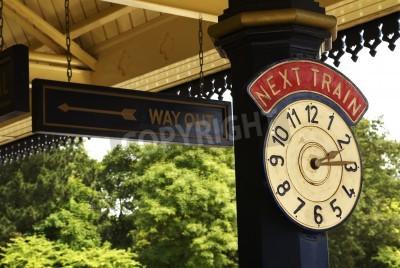 Poster Station Clock