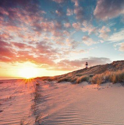 Poster Strand und Dünenlandschaft sou Sylter Ellenbogen