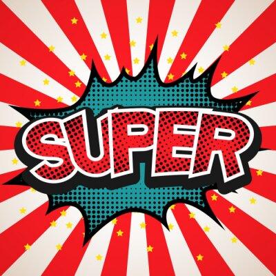 Poster Super discurso bolha fundo