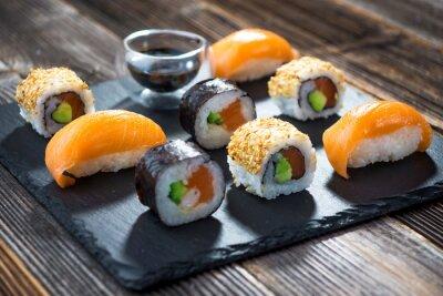Poster Sushi de frutos do mar japonês
