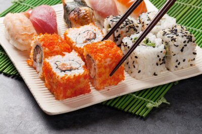 Poster Sushi e maki conjunto