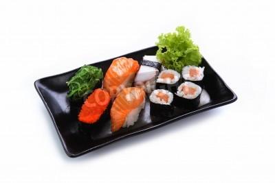 Poster sushi isolado em um fundo branco