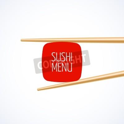Poster Sushi menu cover template
