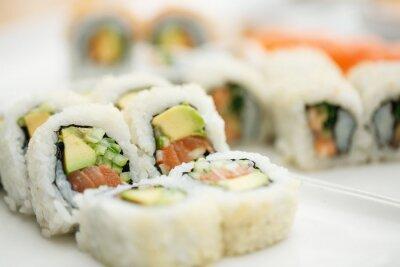 Poster Sushi, prato, pauzinhos