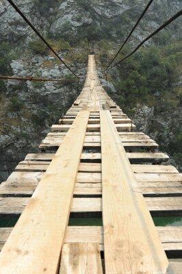 Poster Suspensão, ponte, desfiladeiro