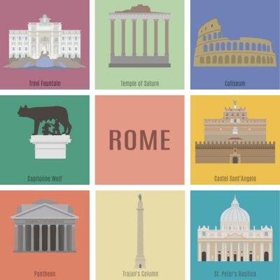 Poster Symbols of Rome