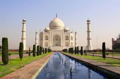 Poster Taj Mahal mausoléu, Agra, Índia