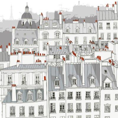 Poster Telhados de Paris