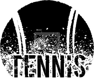 Poster tênis escuro grunge